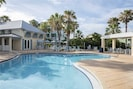 The Second Clubhouse Pool - The gradual slope entrance into the second pool makes entry easy. Paddle around and then dry off in the soothing Florida sunshine.