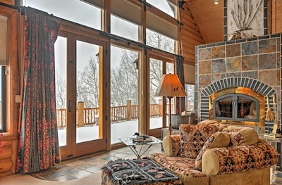 The large windows throughout this vacation rental home illuminate every room!