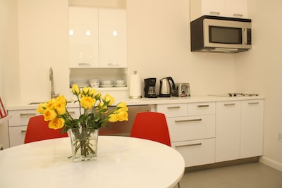 Newly renovated kitchen and dining room
