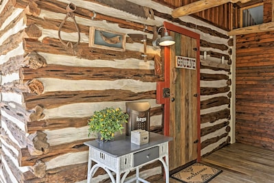 'Gruene Cabin' welcomes you with charming decor and southern accents!