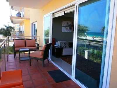 Amazing portrait view from your furnished balcony