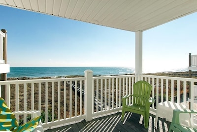 Take in the view of the gorgeous Atlantic from the deck.