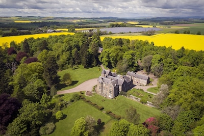 Arial photo of Kinblethmont House