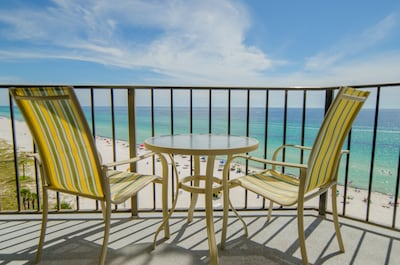 """Your """"Captain's Cove"""" balcony! East and West views of the beach!"""