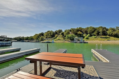 Dock - Welcome to Austin! Bring your own boat or rent one from the local marina, keeping it docked at the home's private boat slip.