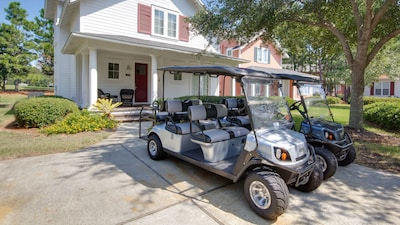 Two six seat Golf Carts included!