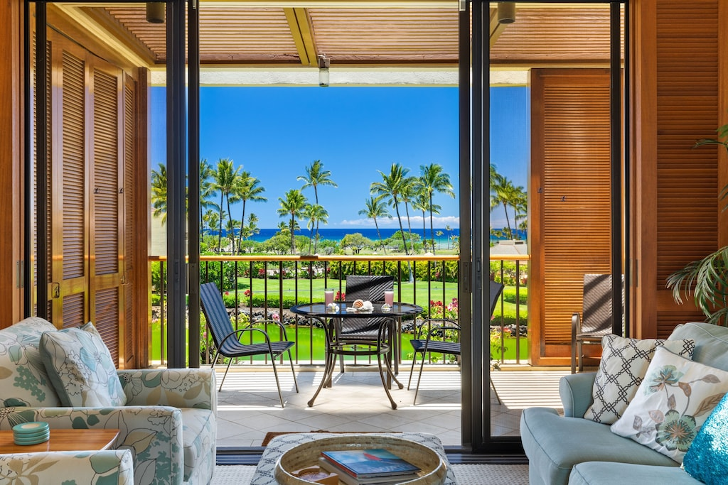 Ocean views from this Waikoloa vacation rental