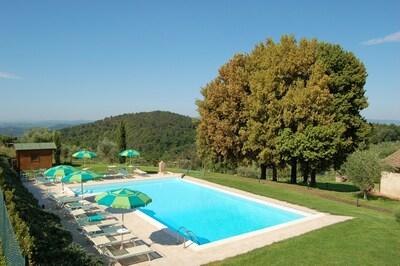 Schwimmbad, Eigentum, Haus, Grundeigentum, Villa, Estate, Gras, Gebäude, Urlaub, Bauernhaus