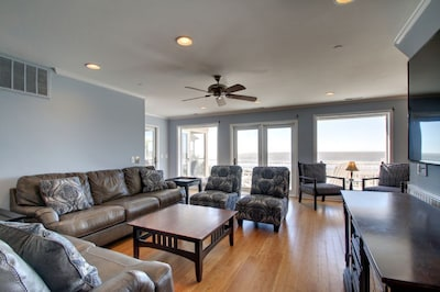Living Room, Second Level of Home, Oceanfront