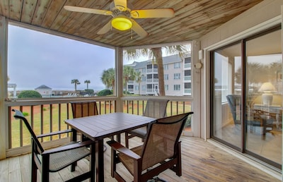 Great Porch with Seating for Four and Ocean Views!