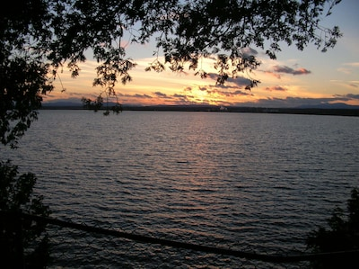 Sunset view from the cabin.