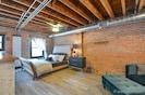 Loft bedroom king size bed