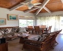 Upstairs living Room with Dining Table for six offering Ocean views