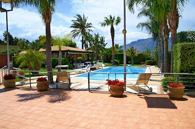 Alcamo Marina with Garden and Pool