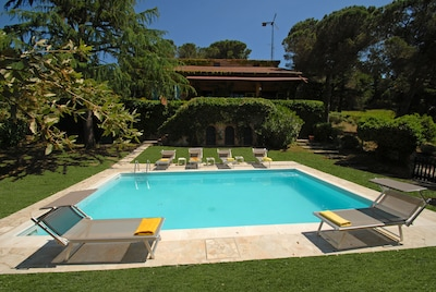 Villa Miralaghi from the private heated swimming pool 5x8 1,40 constant depth.