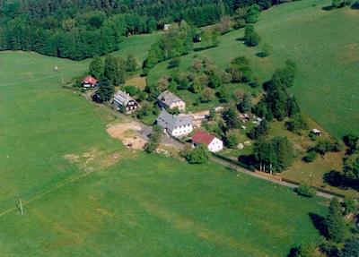 vue aérienne (maison indiquée)