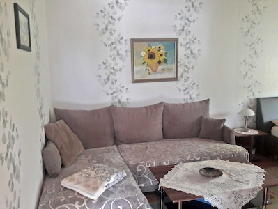 Wohnbereich im kombinierten Wohn-Schlafzimmer