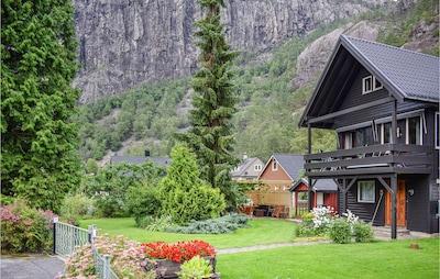 Langfossen, Etne, Vestland, Norwegen