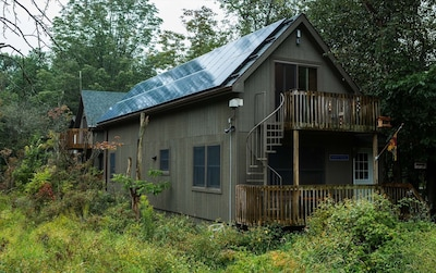 Our North Bunk House is powered entirely by Solar.