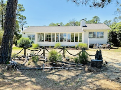 The Hideaway in Hays Beach cottage and property are both spacious and cozy.
