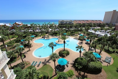 Total view of lagoon pool area! One of two pools!