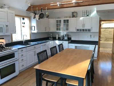 Newly updated Kitchen 2017 with soapstone counters double oven and well equipped