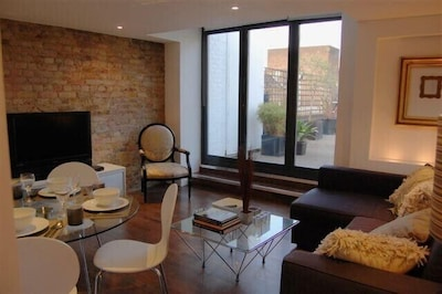Living room with view onto your own terrace