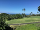 Beautiful views from the lanai of the golf course and ocean beyond.