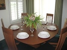 Dining room to entertain and relax in while staying at this Hawaii condo rental