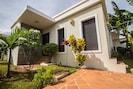 Villa Entrance.Tropical landscaping. Electronic key  entry