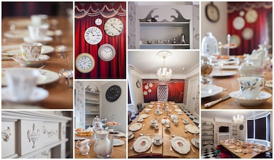 Madhatter Dining Room for the ultimate teaparty! Seats 24