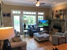 "Family Room with new 50"" HDTV and new furniture!"