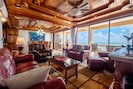 Beautiful, open-concept living/ dining space with amazing top-floor ocean views!