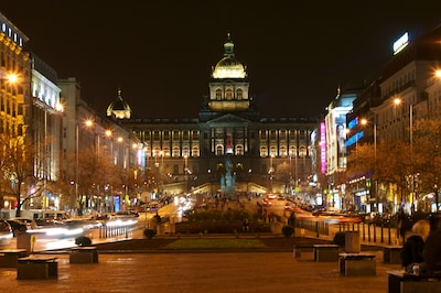 The National Museum and Wenceslas Square, about 5 minutes by walk far from You