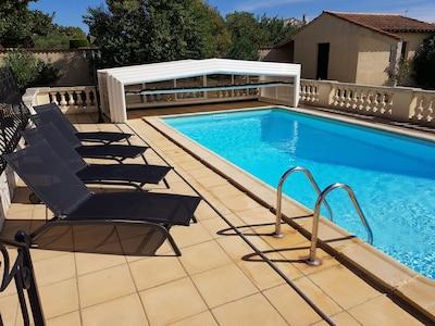 8m x 4m heated pool