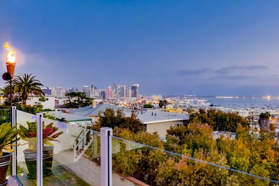 360 degree views of downtown and the harbor