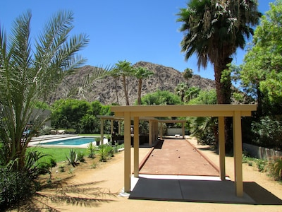 Play Bocce Ball on this regulation size Bocce court.