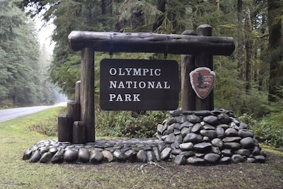 The home is located at the entrance to coastal Olympic National Park.