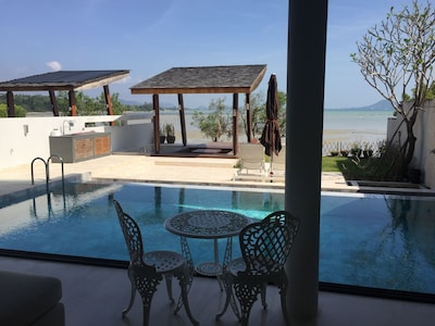 View of Pool,  Sala with Jacuzzi and Garden from Livingroom Area