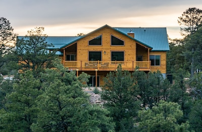 Front of house from across the canyon.