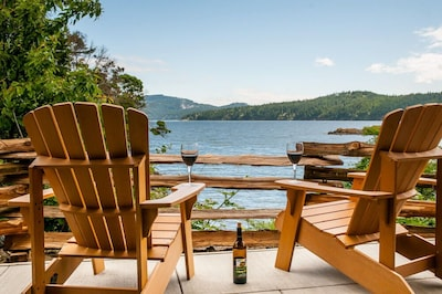 Kick back on your private patio. You can't get much closer to the water!