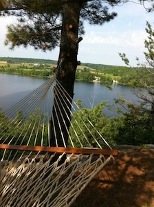 This is where you take your afternoon nap.  Your closest neighbors are across the lake