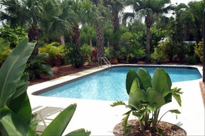 Relax by the secluded pool.