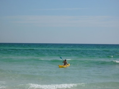 Rent a Kayak and have fun on the water. Rentals on the beach