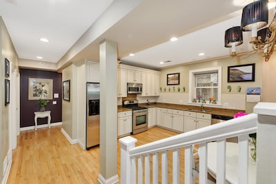 View from the front entrance landing. The open floor plan is great for families