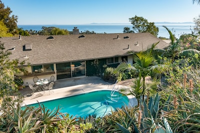 Pool - A prime location in the exclusive Hope Ranch community, this property offers unparalleled ocean views.