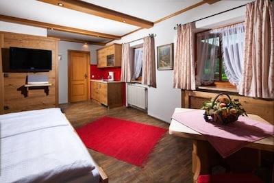 Appartment Grünstein, für 2 Personen, 30 qm-Schlaf- und Wohn/Essbereich