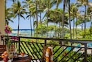 Ocean, beach and pool view lanai! - Watch the whales breach from your lanai with dining table, chaise lounge and end table!