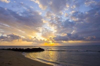 Sunrise at Waipouli Beach