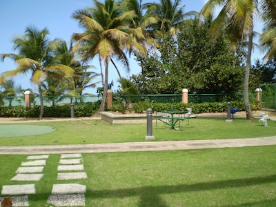 Children playground Beachfront property with private access to the beach